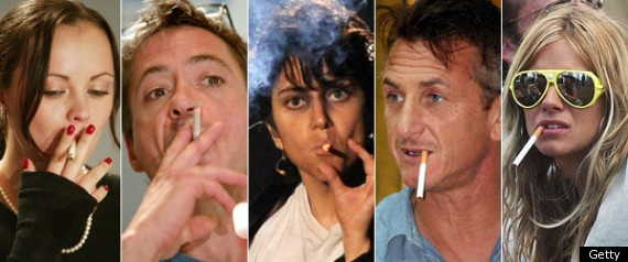 Celebrity Smokers -liking how some celebritites just let the cigarette hang from their mouths