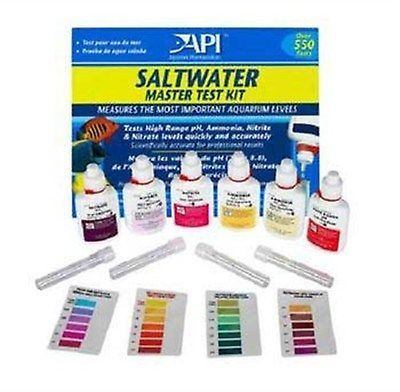 Water Tests and Treatment 77659: Aquarium Saltwater Master Test Kit 64 Ounces Fish Tank Salt Water Testing New BUY IT NOW ONLY: $31.99