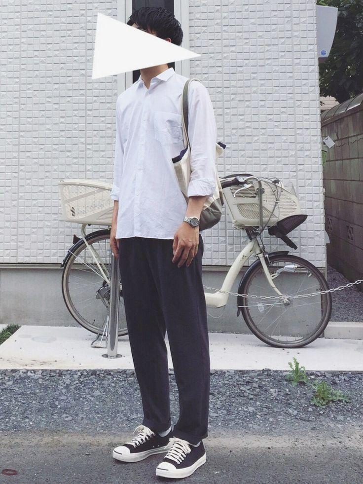 qoobさんの「【COMOLI(コモリ)】COMOLI SHIRT(COMOLI)」を使ったコーディネート