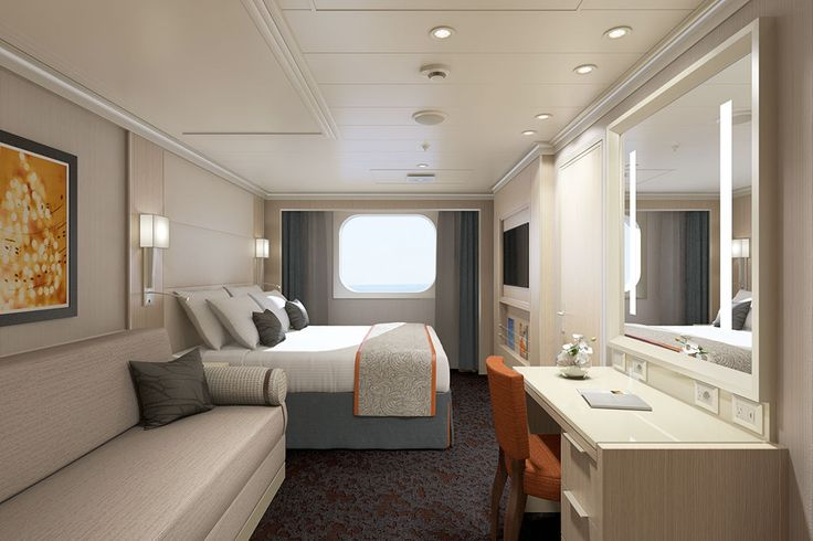Koningsdam Family Stateroom Rendering ~ Holland America Line Previews New Koningsdam Details with Video and Deck Plans | Popular Cruising (Image Copyright © Holland America Line)