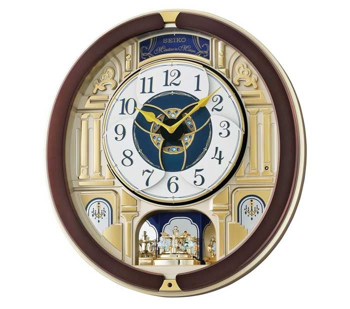 Seiko melodies in motion clock with 18 hi fi melodies for Seiko musical wall clocks beatles