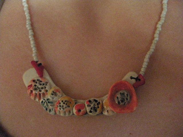 "Anna Chronaki. Short ceramic neckless, from the "" Reef"" line."