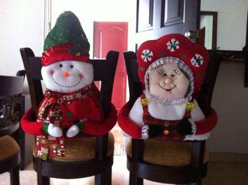 Juego De Forros Navidad Para Sillas De Comedor X 4