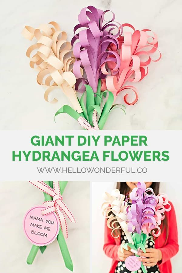 Giant Diy Paper Hyacinth Flower Bouquet Flower Crafts Kids