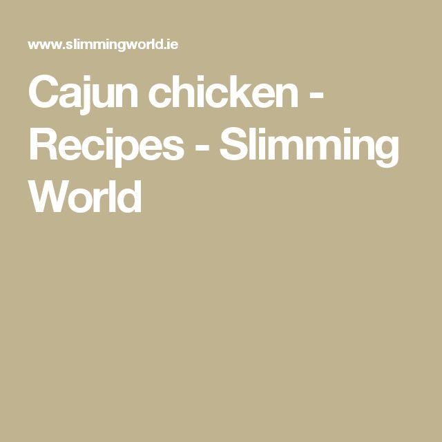 Cajun chicken - Recipes - Slimming World