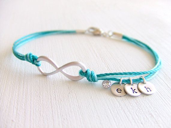 Infinity Friendship Jewelry Bracelet, Family Personalized Charms, Cord Bracelet, Best Friend Gift, Grandchildren, Gift for Her, Under 25 on Etsy, $22.00