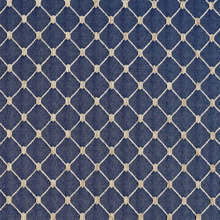 B645 Navy Blue, Diamond Jacquard Woven Upholstery Fabric By The Yard