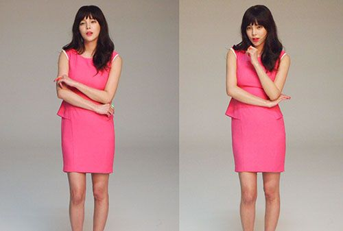 Korean actress Park Si yeon before it is photoshoped.