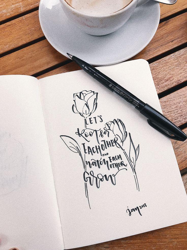 #lettering #brushlettering #quoteble