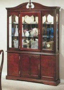 Dimension 53w X 18d 78h Finish Cherry Material Wood Gl China Cabinet Buffet Hutch Queen Anne Features Multi Drawers For Your