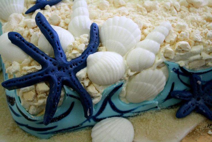 torta per la prima comunione tema marino della pasticceria La Mimosa di http://www.simocakedesigner.it