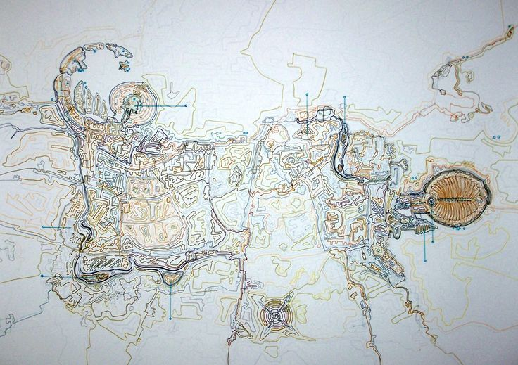 Giorgos Papadatos,  Corporate city map 2. Drawing. marker on paper.50X70 cm. 2007