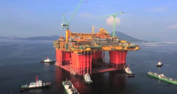 Ichthys central processing facility sails away from South Korea