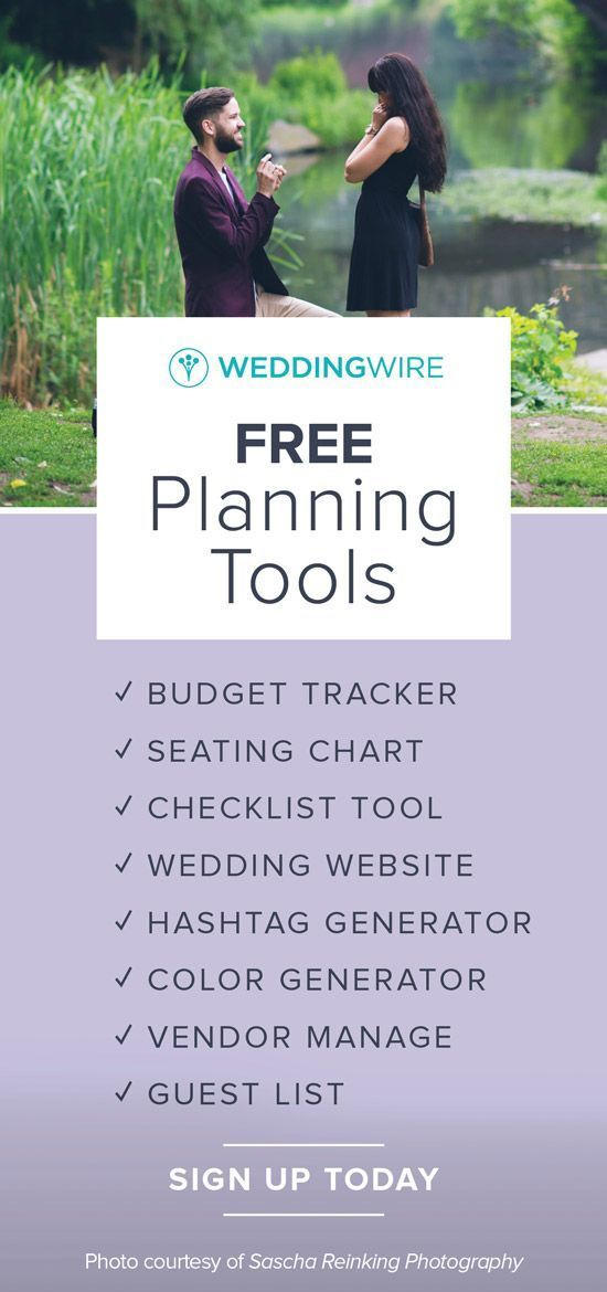 planning a wedding sign up for our free wedding planning tools to