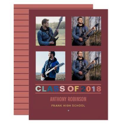 2018 color trends Graduation Announcement photo - invitations custom unique diy personalize occasions