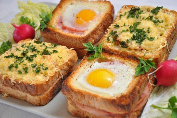 Вкусные бутерброды к завтраку