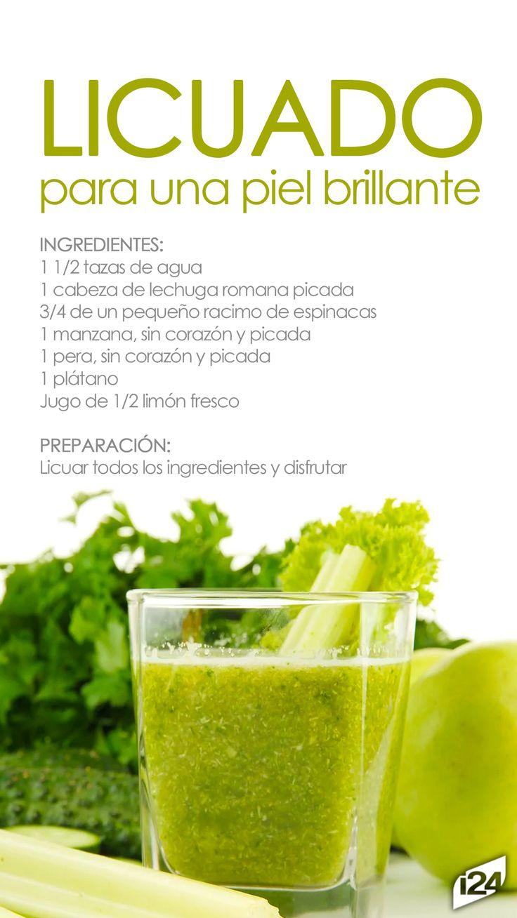 Que tus alimentos le aporten frescura y brillo a tu piel. puedes beberlo en las mañanas #Licuado #bebida #Piel #Beuty #belleza #Food #Recetas