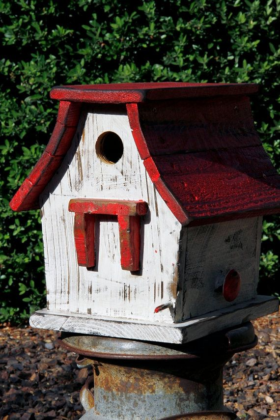 Primitive Bird house Rustic Bird house by