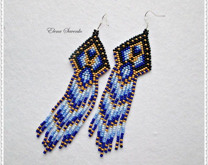 Native american style Beadwork native style earrings beaded