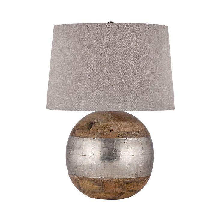 Titan Lighting 27 in. German Silver Table Lamp