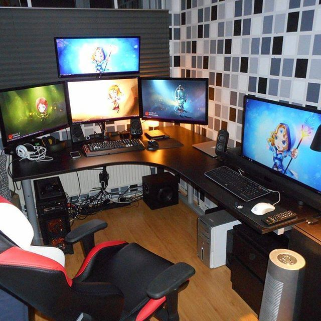 die besten 25 zocker zimmer ideen auf pinterest videospielorganisation pc gaming setup und. Black Bedroom Furniture Sets. Home Design Ideas