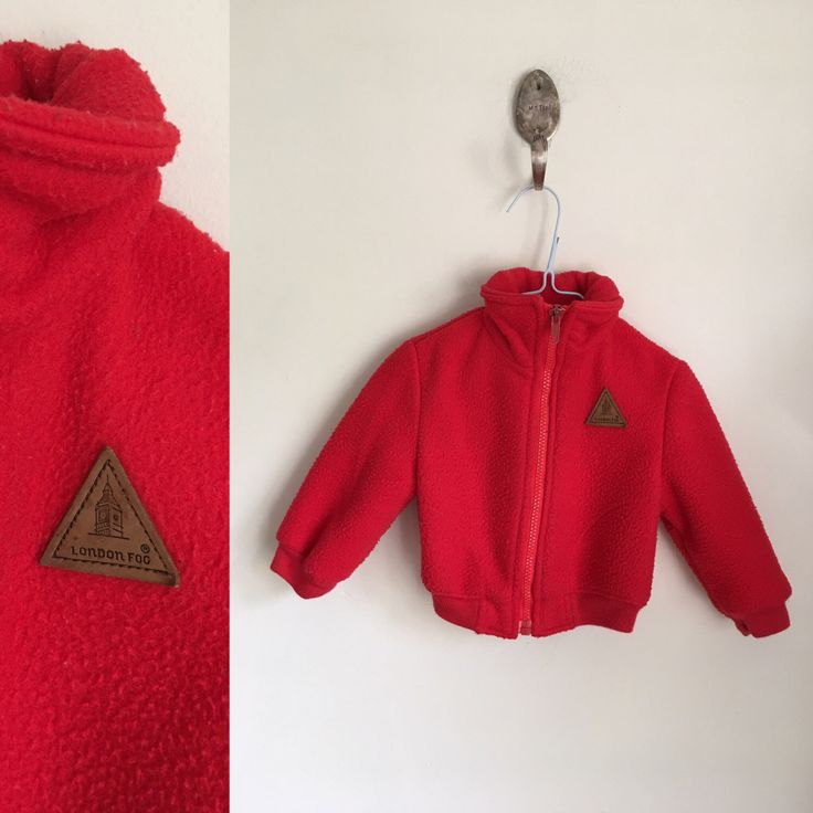 vintage baby's Jacket - LONDON FOG red bomber jacket / 12M by MsTips on Etsy https://www.etsy.com/listing/469729822/vintage-babys-jacket-london-fog-red