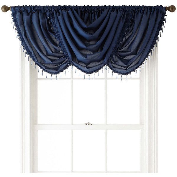 royal velvet encore rodpocket waterfall valance 20 liked on polyvore featuring home home decor window treatments curtains rod pocket draperies