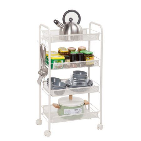 ktaxon 4 tier shelving rack shelf rolling kitchen pantry storage rh pinterest com