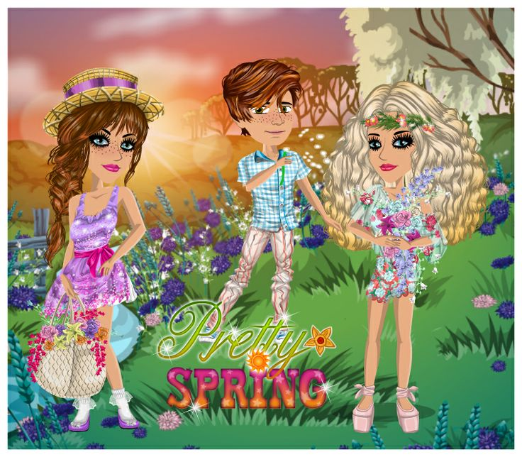 Pretty Spring theme on #moviestarplanet