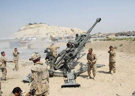 Canadian Artillery.  D Bty. 2nd Regt. 2 RCHA  Afghanistan