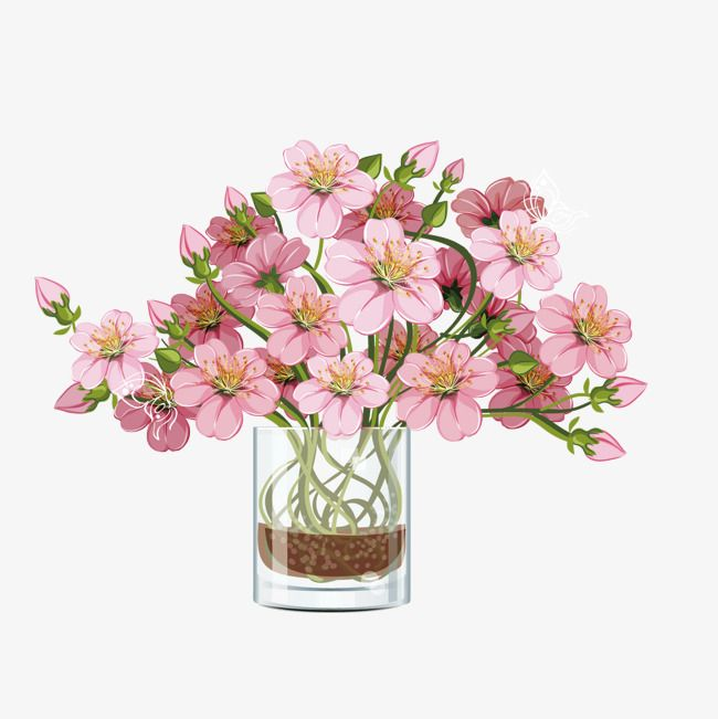 Vector Florero Pink Bouquet, Flores, Bouquet, Florero PNG y Vector ...