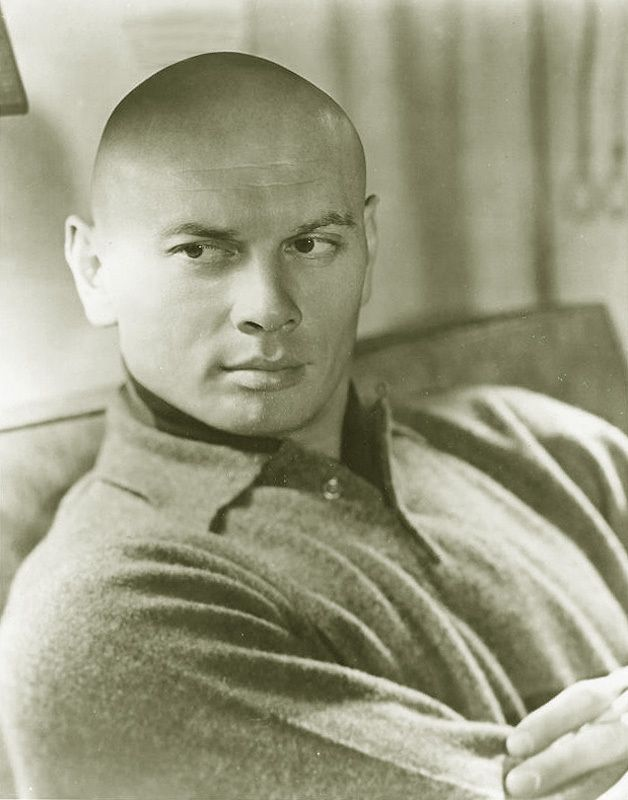 Yul Brynner July 11, 1920 – October 10, 1985 was a Russian-born United States-based actor of stage and film. known for his portrayal of the King of Siam in the Rodgers and Hammerstein musical The King and I, for which he won two Tony Awards and an Academy Award for the film version; he played the role 4,625 times on stage.