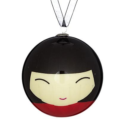 Buy John Lewis Japanese Doll Bauble, Black online at JohnLewis.com - John Lewis