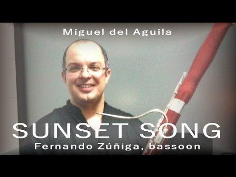 SUNSET SONG bassoon and piano duet / バズーンピアノ  바순 피아노 Fagott Klavier  Фагот