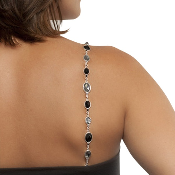 Bra jewelry.  What a brilliant idea.  These straps can be used  on any convertible or strapless bra.  Jewelry for your shoulders.  There are several different styles.