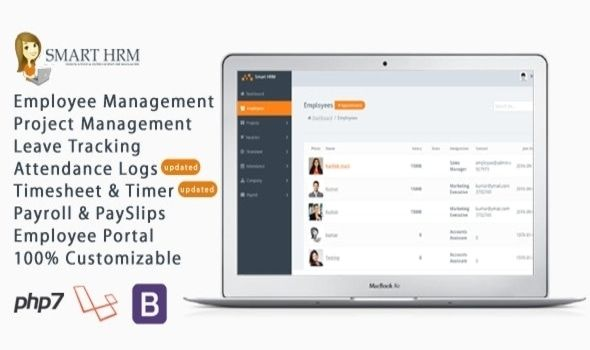 Smart Hrm V1 6 Hr Management With Project Management Payroll Attendance Time Sheet Lite Hr Management Project Management Payroll