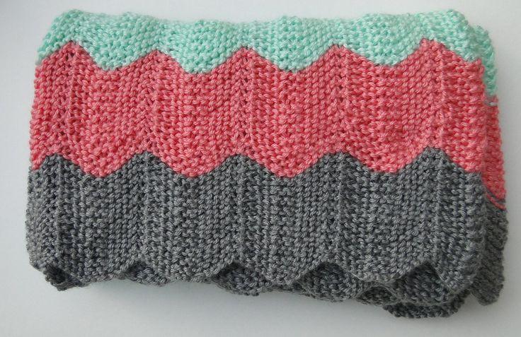 Modern Chevron Knit Baby Blanket Cozy blankets, Love ...