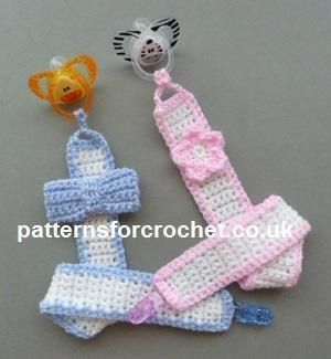 Looking for your next project? You're going to love pfc226-Pacifier baby crochet pattern by designer justcrochet.
