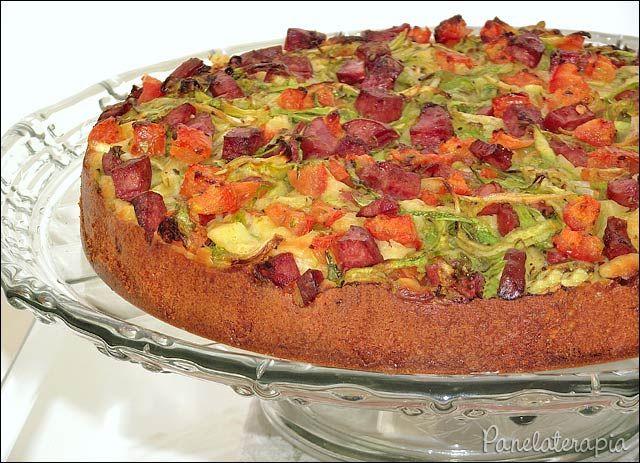 Torta de Abobrinha e Calabresa ~ PANELATERAPIA - Blog de Culinária, Gastronomia e Receitas