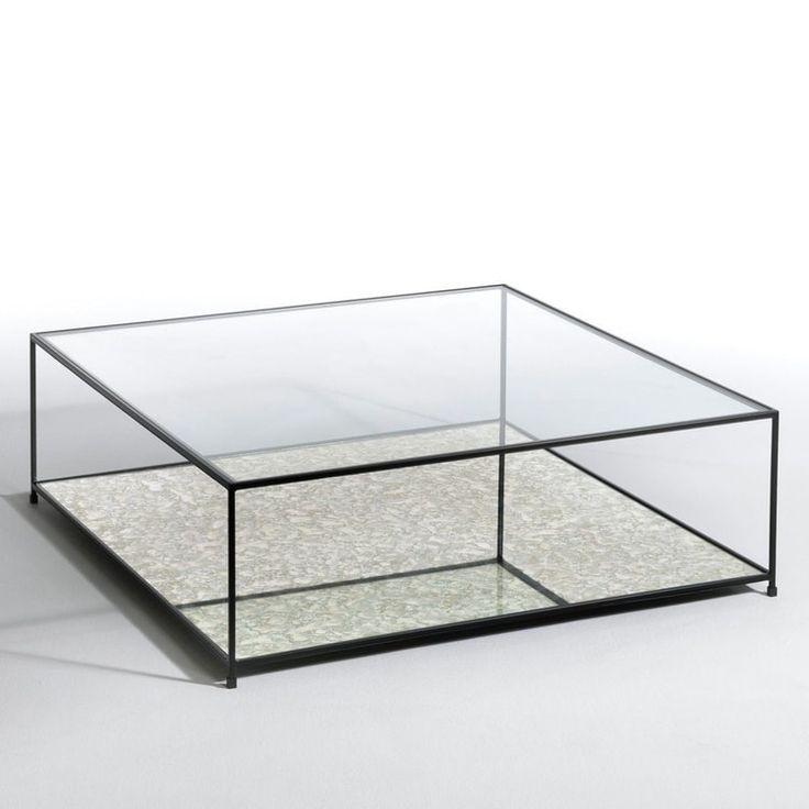 Une table basse transparente