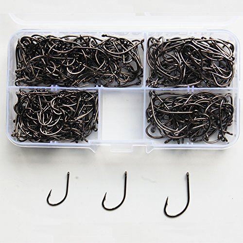 JSHANMEI �300 St�cke / Los High Carbon Stahl �Chod Haken Karpfen Angelhaken mit langem Schaft 8300 Barbed Angelhaken Set
