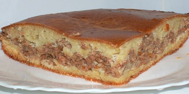 Пирог с мясом «Легче не бывает»! учшего теста для наливных пирогов я нигде не встречала. | Эксклюзивные шедевры кулинарии.