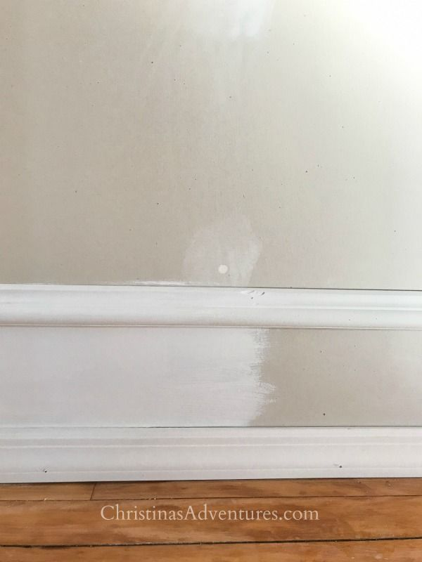Paint Trick With Faux Trim To Create A Wider Trim Faux Walls Baseboard Trim Floor Trim