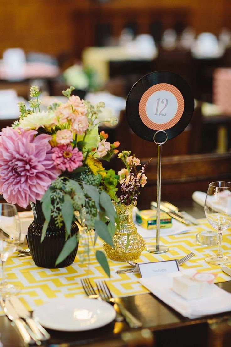Vinyl record table number 89 best Wedding