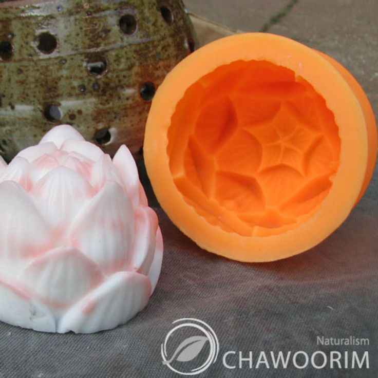 Elegance Lotus Silicone Mold for Soap Making, Candle Making Soap Molds Candle Molds