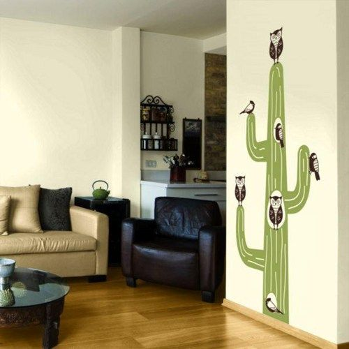 Animal Cactus Tree hole House owl Woodpeckers bird home Art Decals Wall Sticker Vinyl Wall Decal stickers living room bed baby room 685