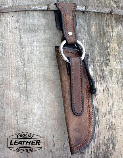 Vaina de cuchillo bushcraft cuero / funda de por PegCityLeather