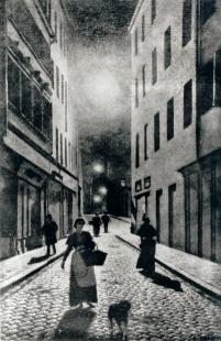 A Street in Munich  Gierymski Aleksander (1850-1901)  Signature: b.r.: A. GIERYMSKI