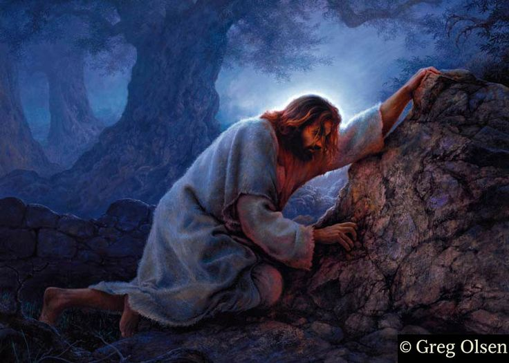 No Greater Love by Greg Olsen Christs bleeding from every pore to take upon our sins. There is no greater love!