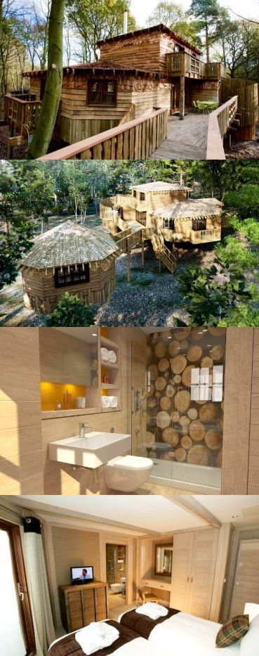 For when I win the lottery!! Center Parcs Tree Houses, I'd be like the Hobbit who wouldn't leave! Wow!